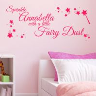 Personalised Sprinkle with Fairy Dust~ Wall sticker / decals